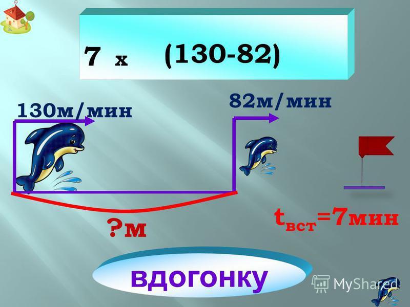 360 360 м t=2 мин 480 м/мин 600 м/мин вдогонку (600-480) x 2