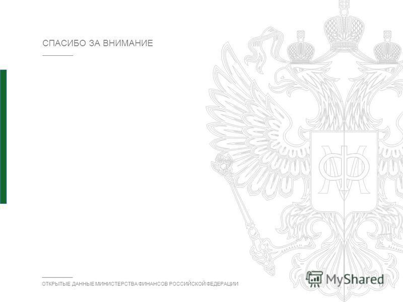 ОТКРЫТЫЕ ДАННЫЕ МИНИСТЕРСТВА ФИНАНСОВ РОССИЙСКОЙ ФЕДЕРАЦИИ СПАСИБО ЗА ВНИМАНИЕ 11