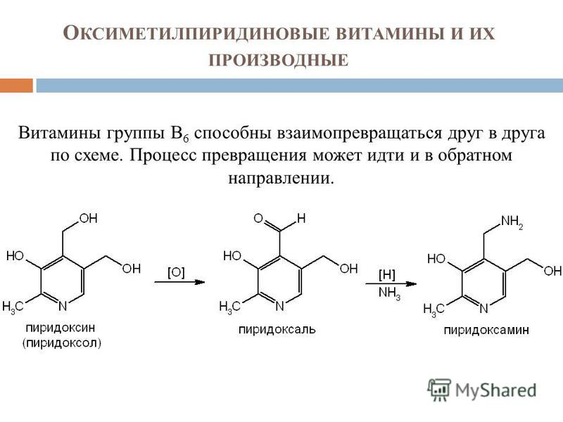 Витамины группы В 6