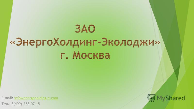 E-mail: info@energoholding-e.cominfo@energoholding-e.com Тел.: 8(499)-258-07-15