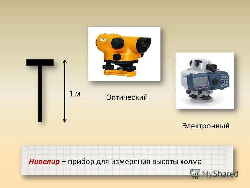 1 м Нивелир – прибор для измерения высоты холма Оптический Электронный