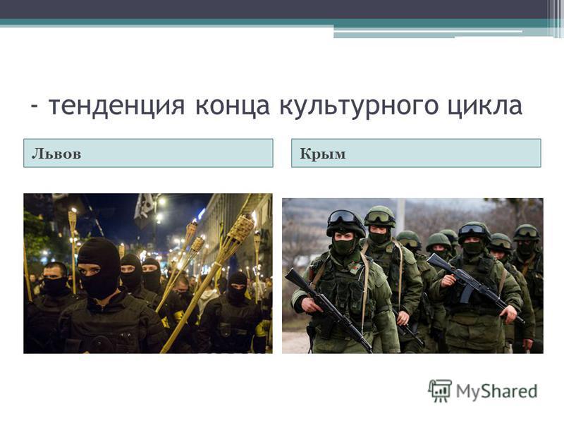- тенденция конца культурного цикла Львов Крым