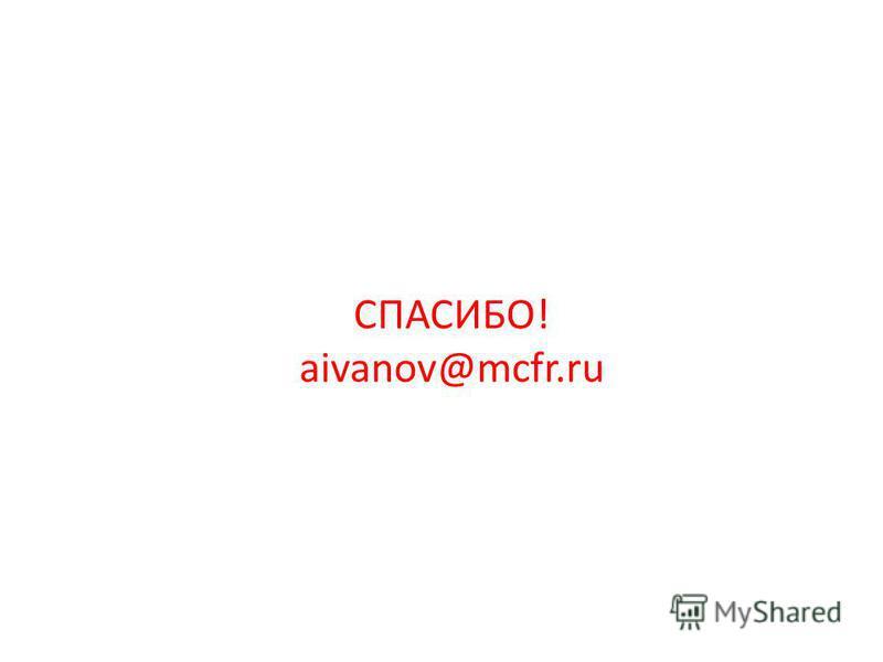 СПАСИБО! aivanov@mcfr.ru