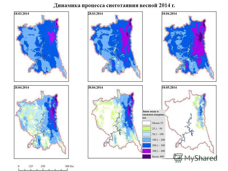 Динамика процесса снеготаяния весной 2014 г.