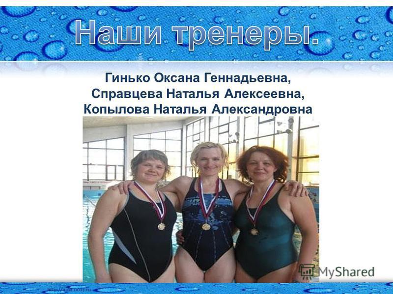 Гинько Оксана Геннадьевна, Справцева Наталья Алексеевна, Копылова Наталья Александровна