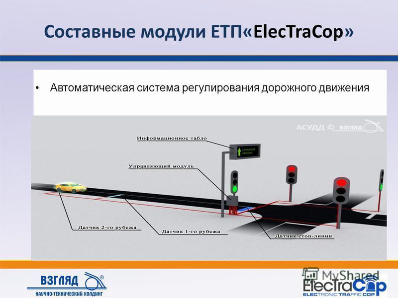 Составные модули ЕТП«ElecTraCop» Автоматическая система регулирования дорожного движения