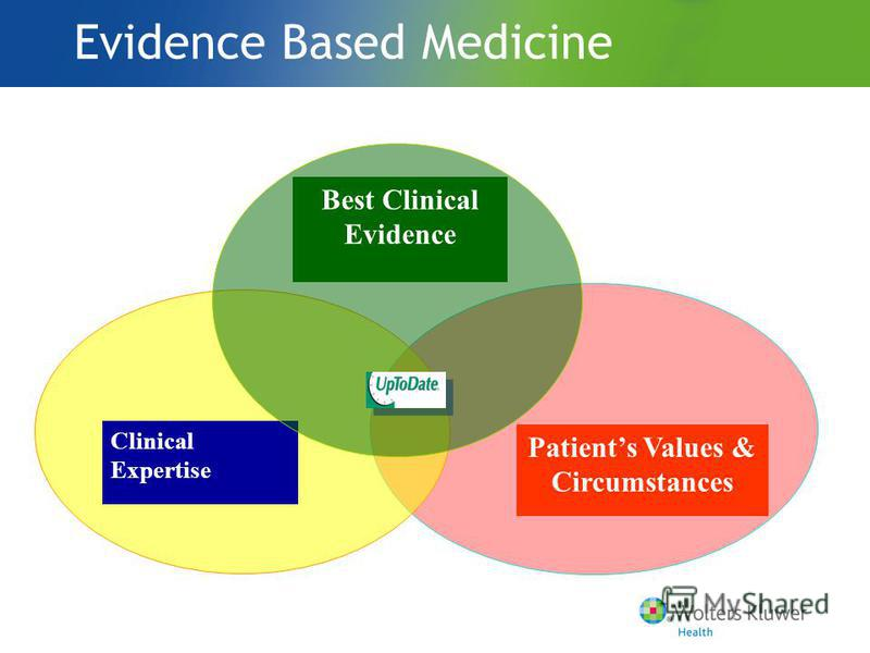 Patients Values & Circumstances Clinical Expertise Evidence Based Medicine Best Clinical Evidence