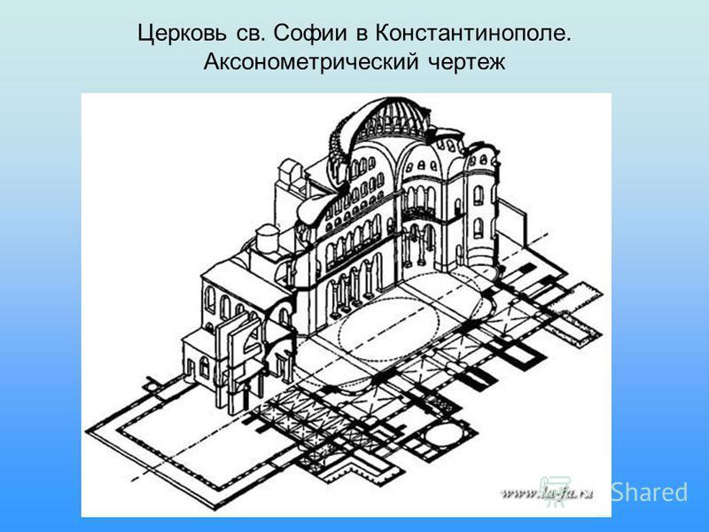 Церковь св. Софии в Константинополе. Аксонометрический чертеж
