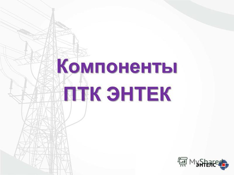 Компоненты ПТК ЭНТЕК