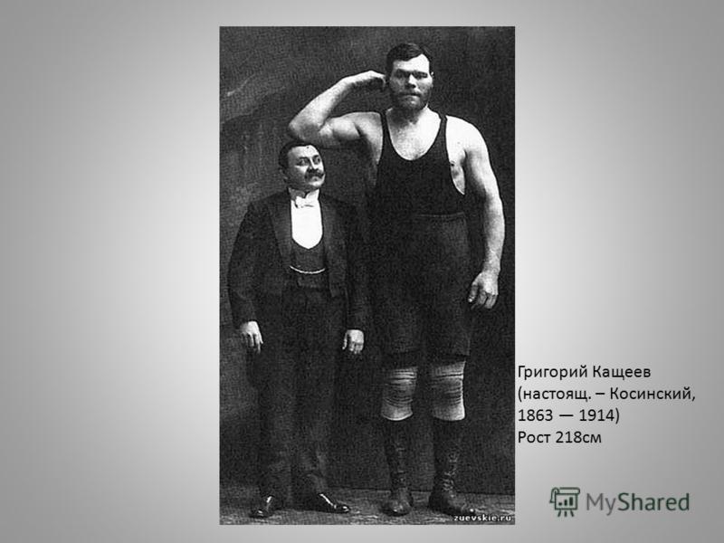 Григорий Кащеев (настоящее. – Косинский, 1863 1914) Рост 218 см