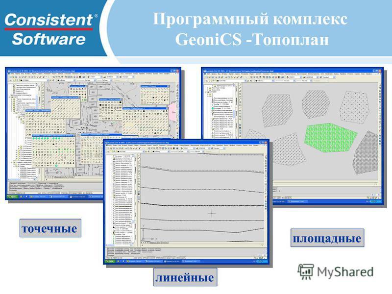 точечные линейные площадные Программный комплекс GeoniCS -Топоплан