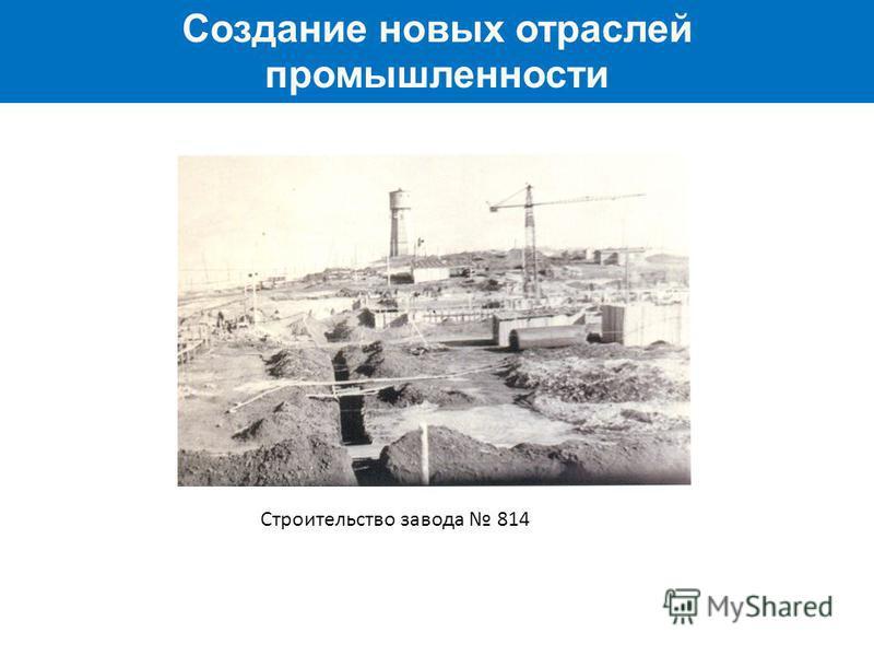 Создание новых отраслей промышленности Строительство завода 814