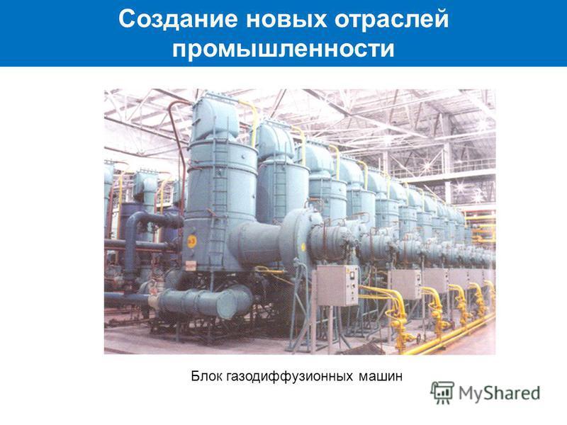 Создание новых отраслей промышленности Блок газодиффузионных машин