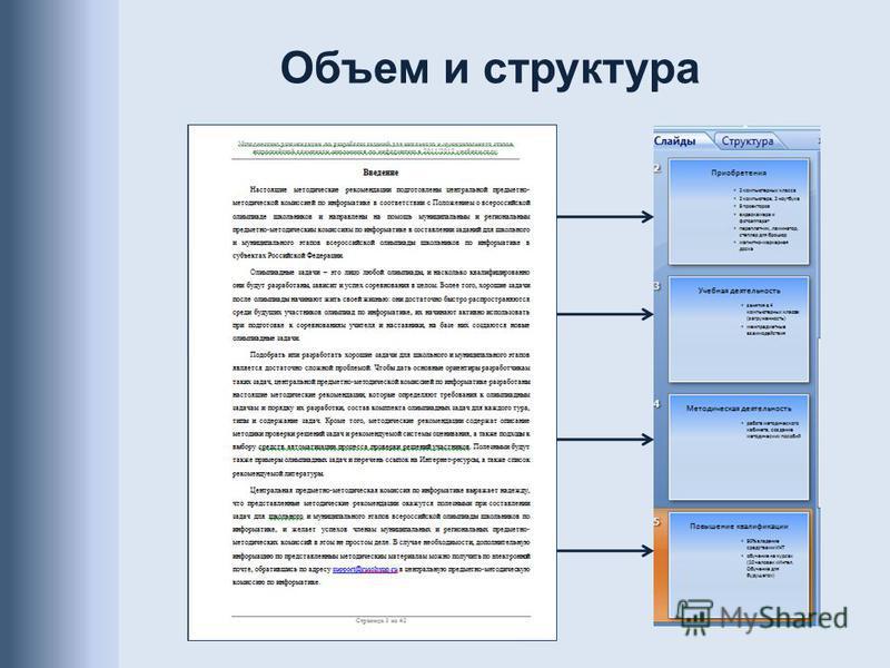 Объем и структура