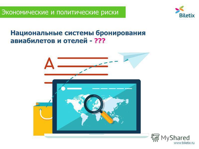 Национальные системы бронирования авиабилетов и отелей - ??? www.biletix.ru Экономические и политические риски