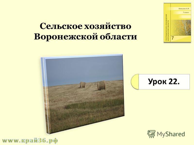 Урок 22. Сельское хозяйство Воронежской области