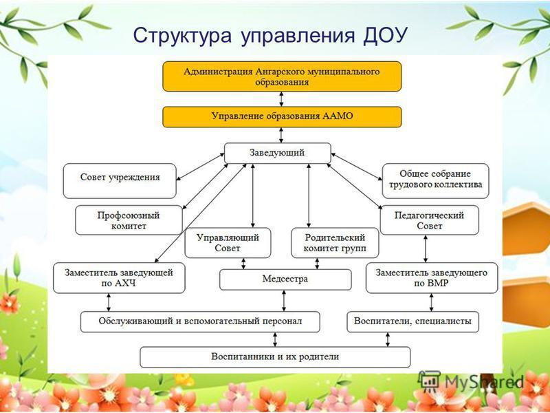 Структура управления ДОУ