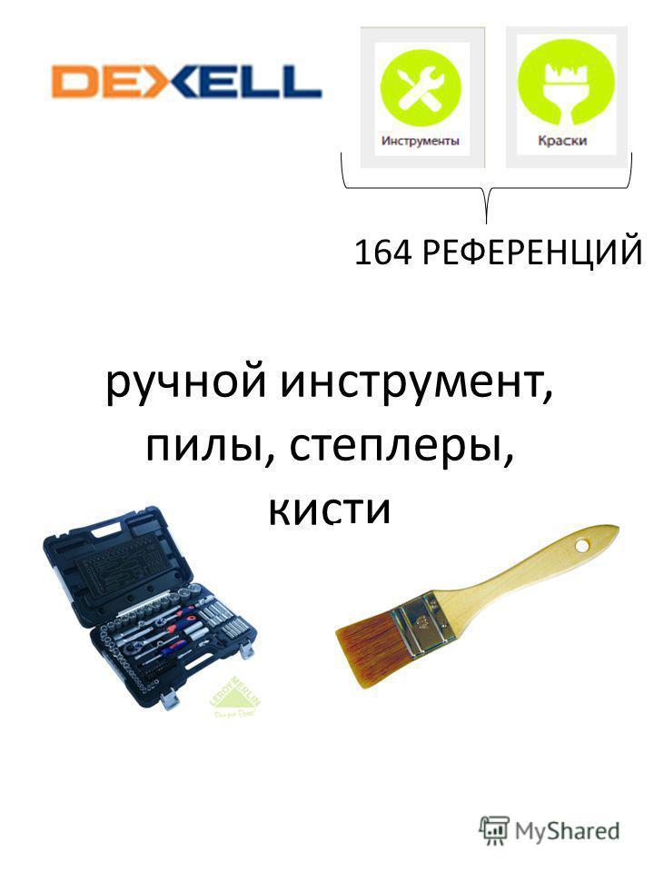 ручной инструмент, пилы, степлеры, кисти 164 РЕФЕРЕНЦИЙ