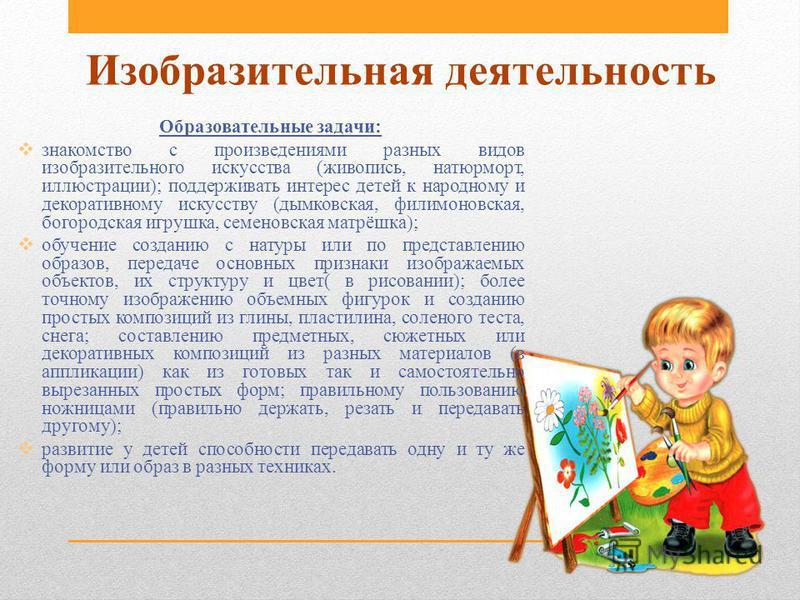 знакомство детей с произведениями изобразительного искусства