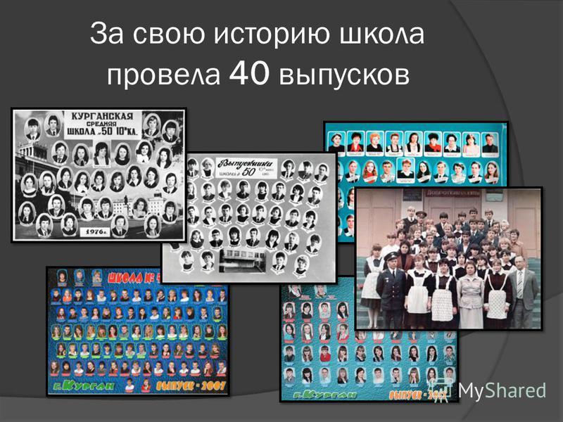 За свою историю школа провела 40 выпусков