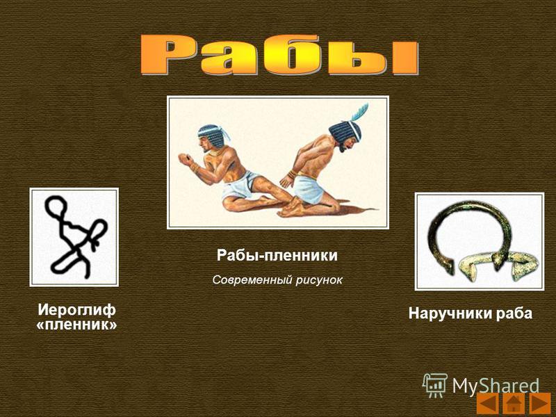 Рабы-пленники Современный рисунок Наручники раба Иероглиф «пленник»