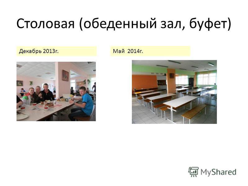 Столовая (обеденный зал, буфет) Декабрь 2013 г. Май 2014 г.