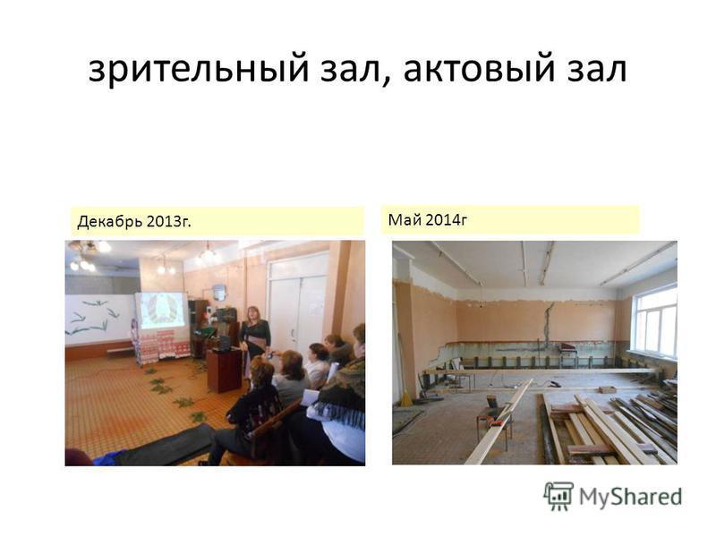 зрительный зал, актовый зал Декабрь 2013 г. Май 2014 г