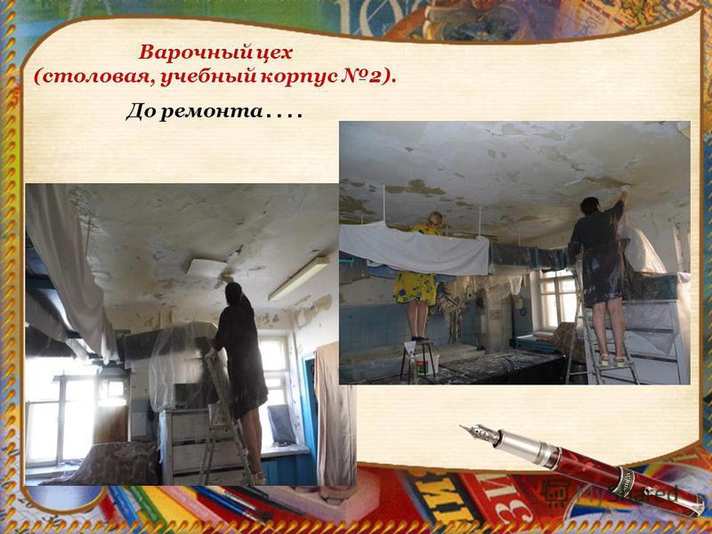 Варочный цех (столовая, учебный корпус 2). До ремонта ….