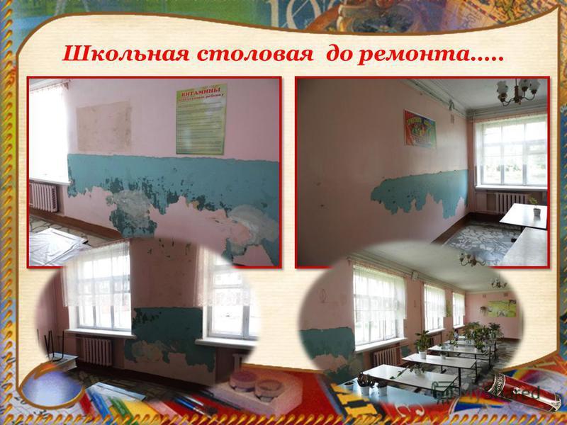 Школьная столовая до ремонта…..
