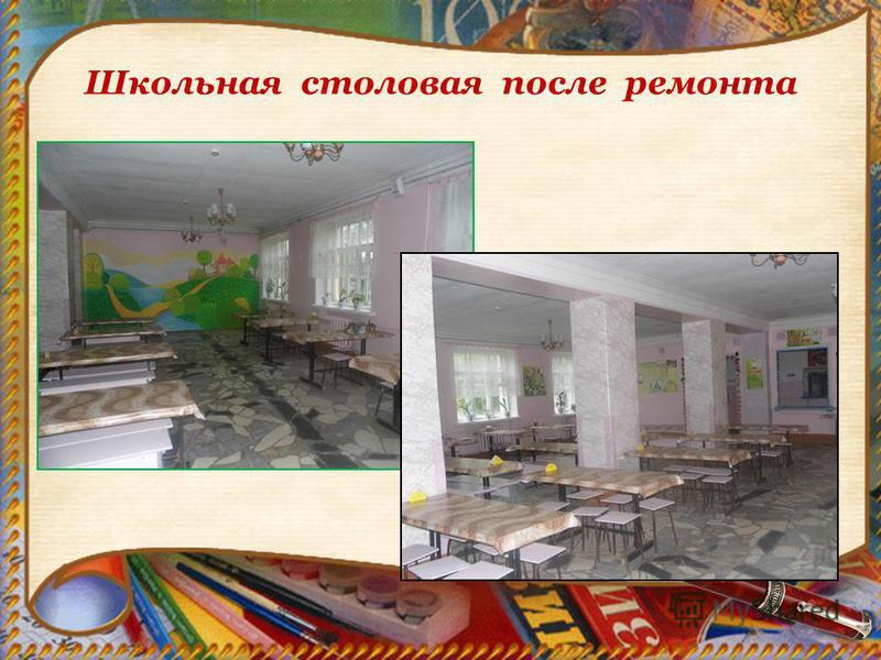 Школьная столовая после ремонта