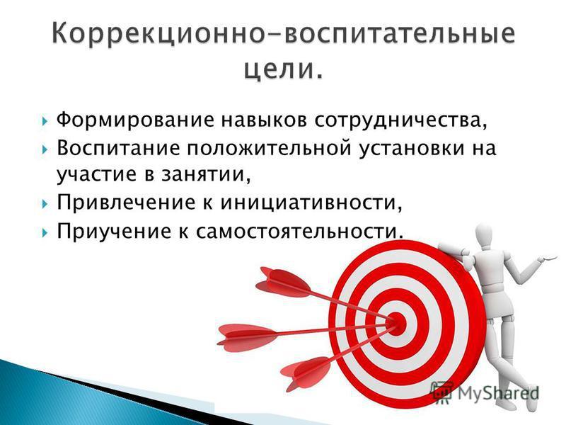 Формирование навыков сотрудничества, Воспитание положительной установки на участие в занятии, Привлечение к инициативности, Приучение к самостоятельности.