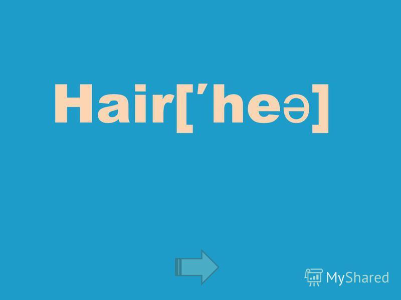 Hair[he ə ]