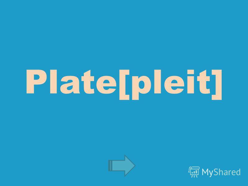 Plate[pleit]