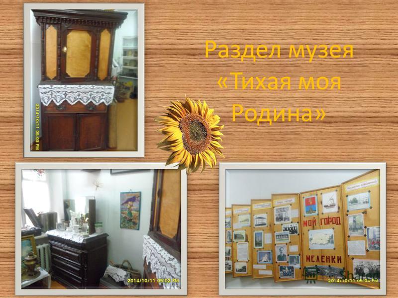 Раздел музея «Тихая моя Родина»
