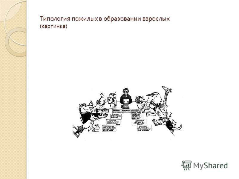 Типология пожилых в образовании взрослых ( картинка )