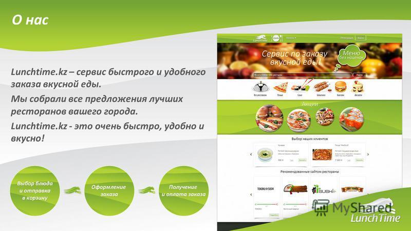 Lunchtime.kz – сервис быстрого и удобного заказа вкусной еды. Мы собрали все предложения лучших ресторанов вашего города. Lunchtime.kz - это очень быстро, удобно и вкусно! О нас