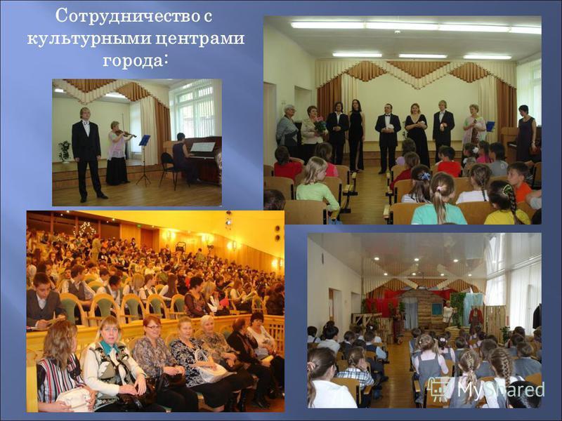 Сотрудничество с культурными центрами города:
