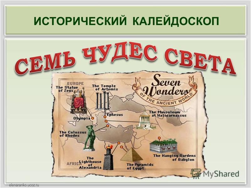 ИСТОРИЧЕСКИЙ КАЛЕЙДОСКОП