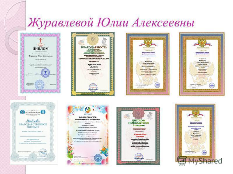 Журавлевой Юлии Алексеевны