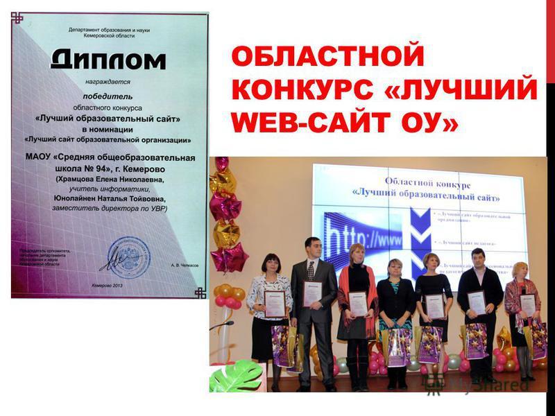 ОБЛАСТНОЙ КОНКУРС «ЛУЧШИЙ WEB-САЙТ ОУ»