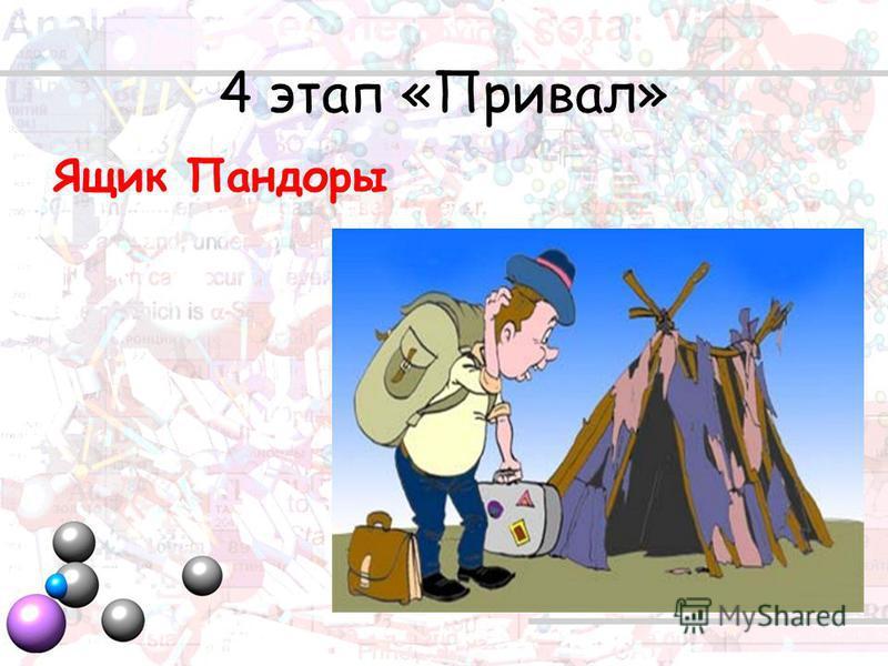 4 этап «Привал» Ящик Пандоры