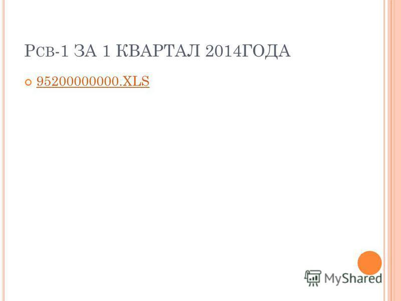 Р СВ -1 ЗА 1 КВАРТАЛ 2014ГОДА 95200000000.XLS
