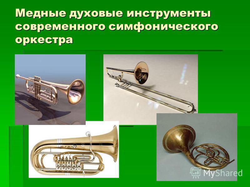 Медные духовые инструменты современного симфонического оркестра