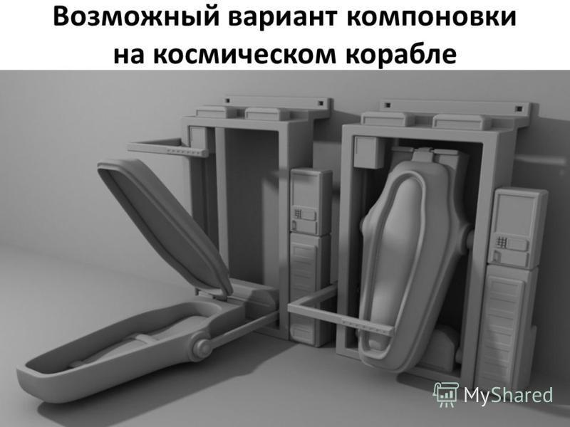 Возможный вариант компоновки на космическом корабле
