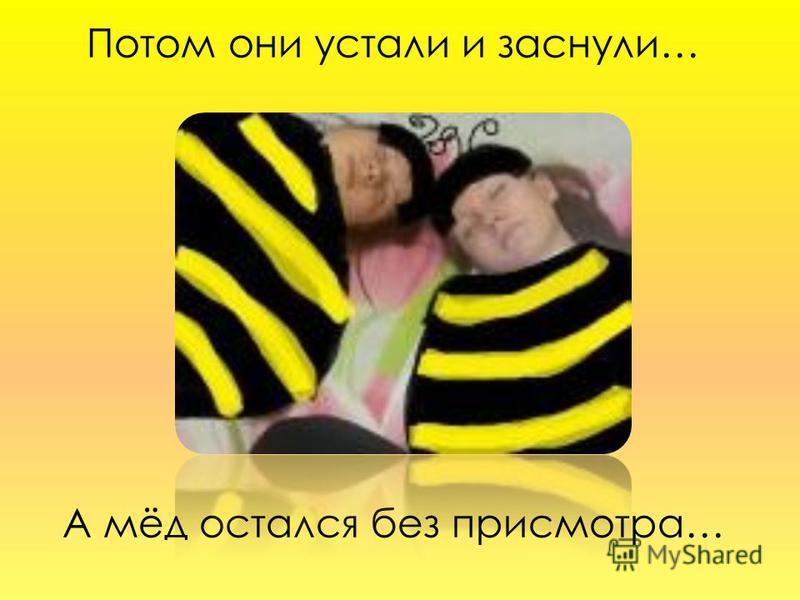 Потом они устали и заснули… А мёд остался без присмотра…