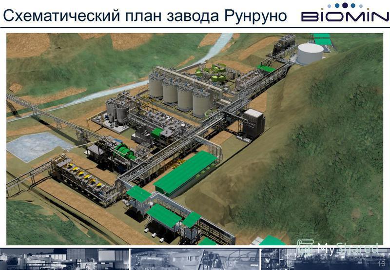 Схематический план завода Рунруно 13