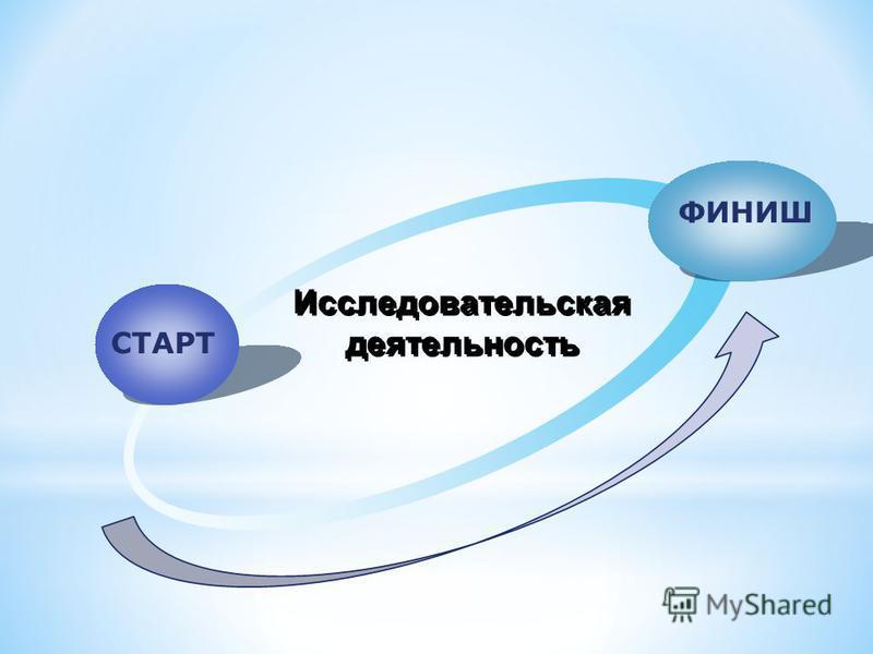 СТАРТ ФИНИШ Исследовательская деятельность