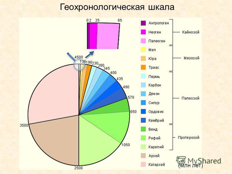 Геохронологическая шкала (млн лет)