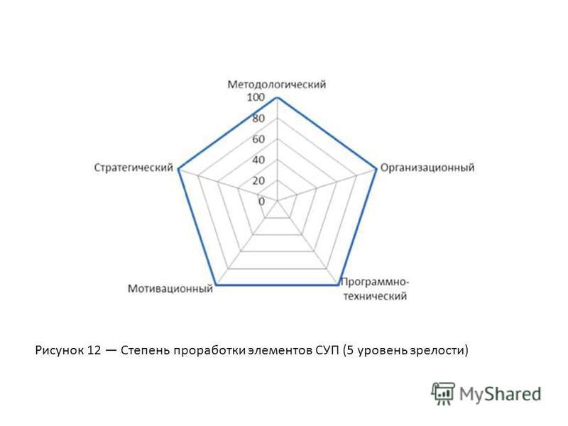 Рисунок 12 Степень проработки элементов СУП (5 уровень зрелости)