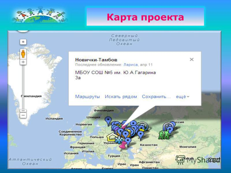 Карта проекта
